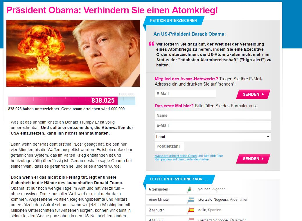 Avaaz-Pedition Trump 11