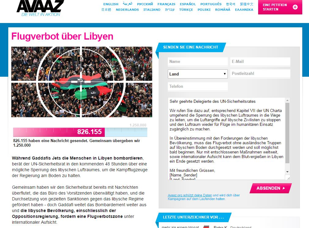 Libyen Flugverbotszone 1