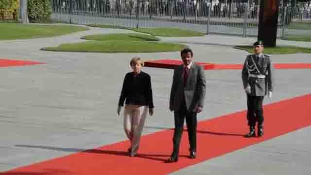 Merkel und Emir von Katar