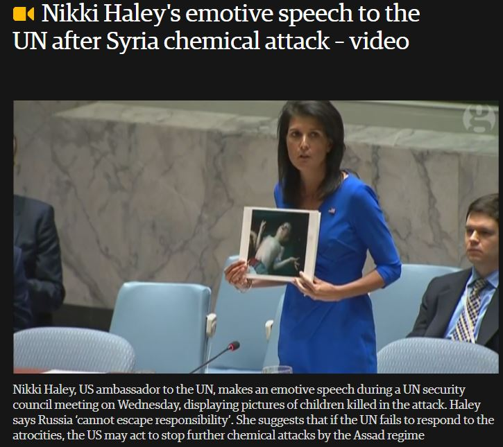 Nikki Haley Kriegshetze und Kriegsandrohung