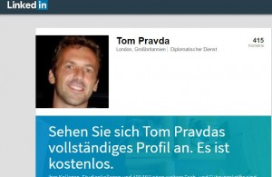 Tom Pravda auf Linked in.